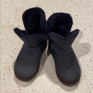 All fur Zara navy blue boot